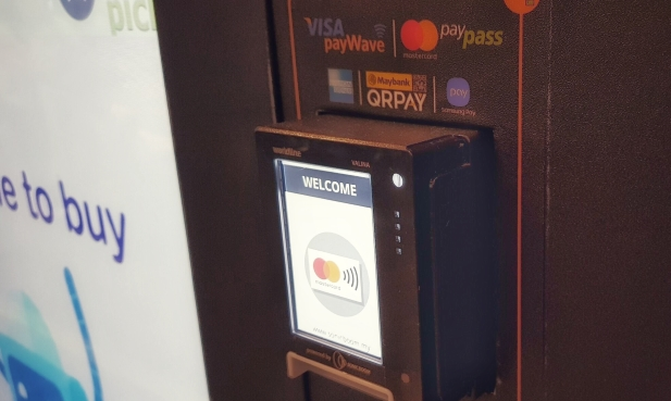 cashless vending using sonicboom all-in-one payment terminal supporting debit, credit, prepaid, e-money, ewallet, qr payment